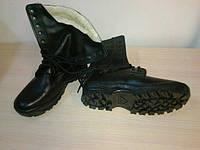 Кожаные ботинки армейские