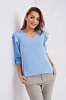Модная женская блуза с рюшами