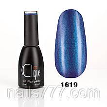 Гель-лак Clique №1619(сигнальный синий с шиммером)