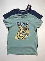Детская футболка Lupilu на мальчика 4-6 лет, рост 110-116 набор из 2 шт