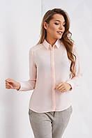 Деловая женская блуза с длинным рукавом