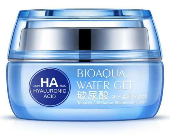 Интенсивно увлажняющий крем  BioAqua Water Get Hyaluronic Acid Cream с гиалуроновой кислотой, 50 ml