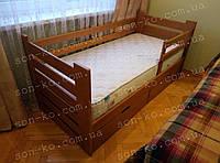 Односпальне ліжко з масиву бук Марко