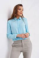 Женская блуза офисного стиля на пуговицах