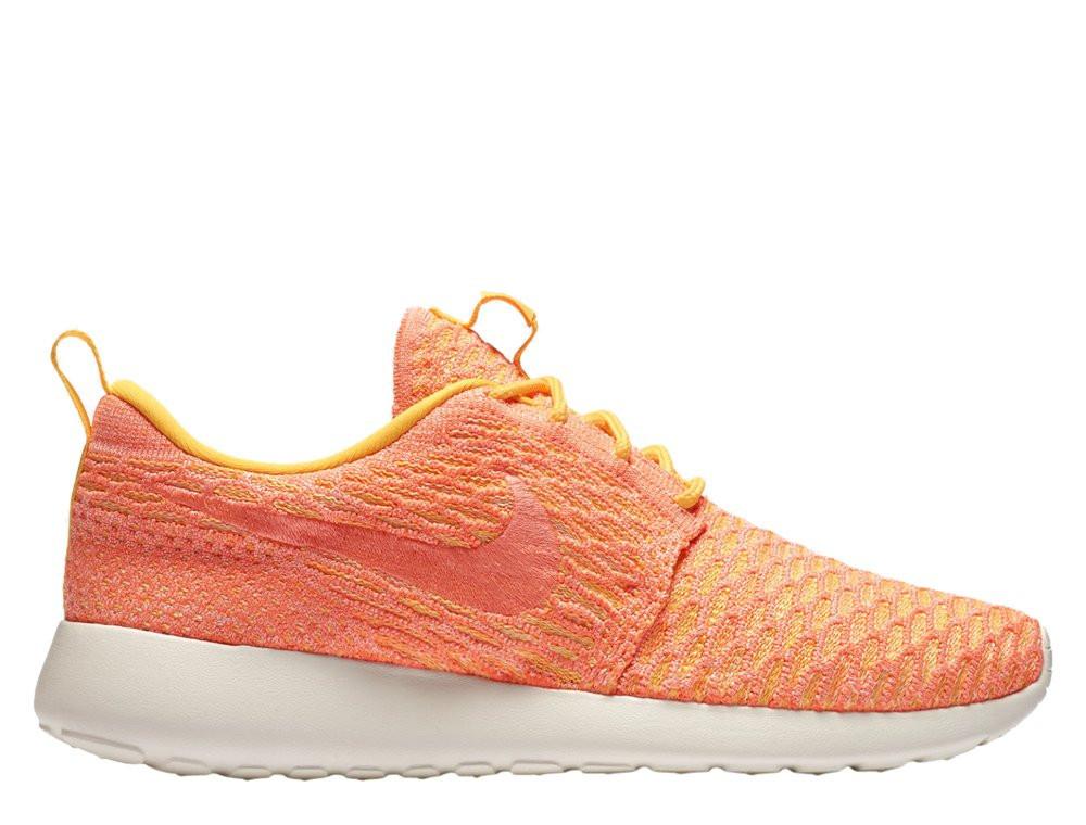 "Женские кроссовки  Nike Wmns Roshe One Flyknit ""Laser Orange""  704927-802"