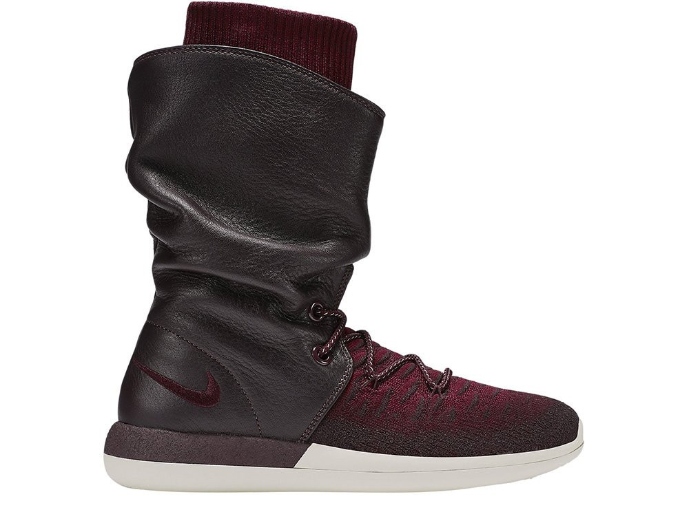 "Женские кроссовки  Nike Wmns Roshe Two Hi Flyknit ""Deep Burgundy""  861708-600"