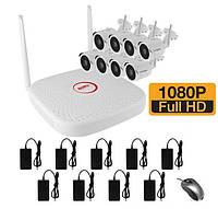 Беспроводной WiFi комплект видеонаблюдения на 8 камер WIFI2008PG1SE200