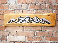 """Картина на доске """" Coast Range"""" 71,5х18см.. В подарок бесплатная доставка."""