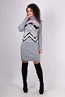 Зимнее вязаное платье Zlata