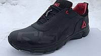 Мужские модные кожаные кроссовки Reebok ,черные, фото 1