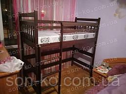 Ліжко горище Артур з масиву бук