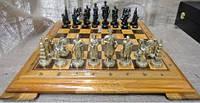 Эксклюзивные шахматы из дерева,фигуры из бронзы, фото 1