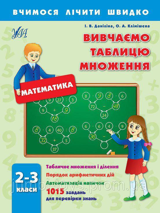 Вчимося лічити швидко: Вивчаємо таблицю множення 2-3 кл (у)