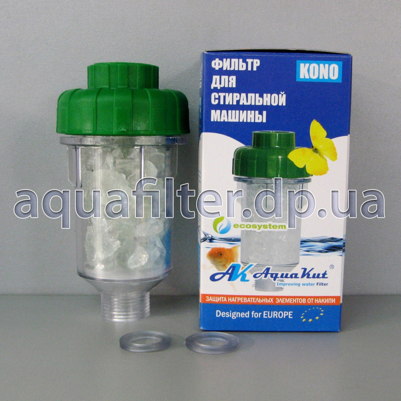 """Полифосфатный фильтр от накипи AquaKut KONO-HP 3/4"""" (5"""", max 6 атм.)"""
