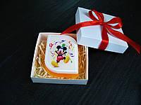 Мыло ручной работы с картинкой Микки Маус с серпантином
