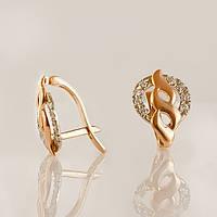 Золотые серьги с фианитами. СП20494