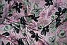 Ткань шелк армани нежно розовый с цветами