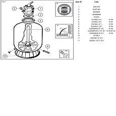 Фильтр Hayward PowerLine 81004 (14 м3/ч) для бассейна с объёмом воды до 56 м3, фото 3