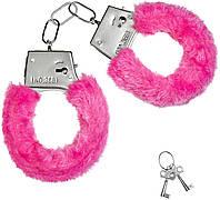 Наручники меховые розовые