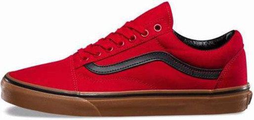 Vans Old Skool Gum Red Black   кеды мужские вэнс  красные  продажа ... a11dee58ee7