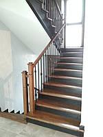 """Лестница """"Флорида """"из дуба, современная лестница, лестница с ковкой купить Луцк"""