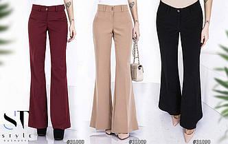 Женские брюки клёш в расцветках (0015-100)