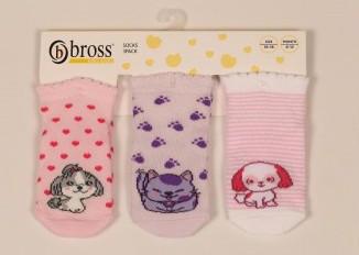 Р. 13-15 ( 0-6 мес.)  Носочки для новорожденных Bross летние