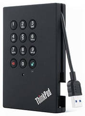 "Жесткий диск LENOVO ThinkPad USB 3.0 Secure Hard Drive 1TB (0A65621) ""Over-Stock"""
