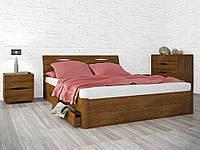 Кровать Марита Люкс с ящиками 200*200 бук Олимп, фото 1