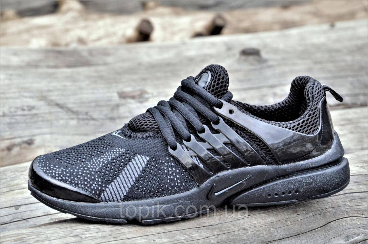 Мужские кроссовки весна лето черные популярные прочный текстиль очень легкие (Код: 1071)