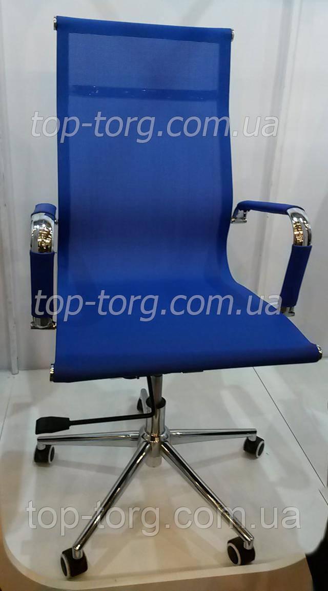 Крісло офісне Solano меѕһ bluе синє з сіткою