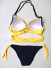 Купальник раздельный с запАхом с Пушап. Желтый. Три цвета, фото 2