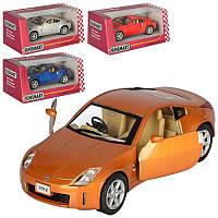 Машинка KT 5061 W  металл, инер-я, 1:34, 12см,откр.дв, рез.колеса,4цвета, в кор-ке, 16-7-8см