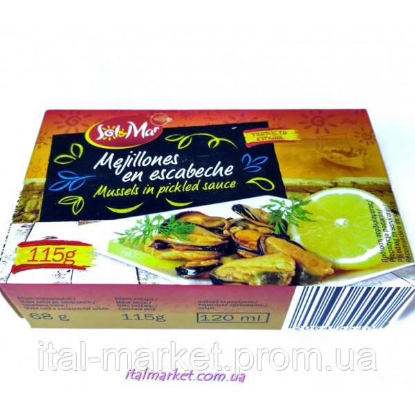 Мидии консервированые в соусе Sol & Mar 115 г