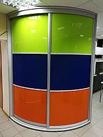 Цветной Шкаф-купе радиусный