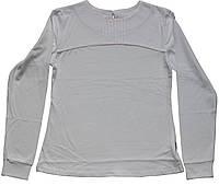 Кофточка хлопковая белая школьная для девочек, рост 158 см,  Robinzone