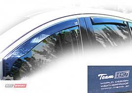 Дефлекторы окон (ветровики)  Renault Logan 2004-> 4D combi MCV 4шт (Heko)
