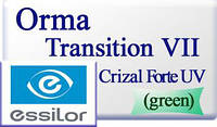 Фотохромная астигматическая полимерная линза Orma  Transitions VII Brown/Grey Crizal Forte UV Essilor Франция