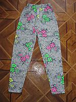 Детские летние хлопковые лосины для девочек 110 ,128 см Турция