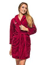 Махровый халат 5401 - бордо