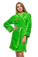 Махровый халат 5402 - салатовый