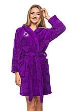Махровый халат 5403 - фиолетовый