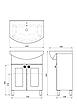Комплект мебели для ванной комнаты Ирис 1-65-2-65 ВанЛанд, фото 4