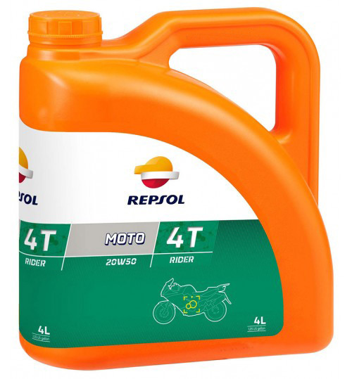 Моторное масло Repsol Moto Rider 4T 20W50 (4л)
