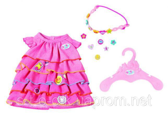 Летнее платье для куклы Baby Born с аксессуарами Zapf Creation 824481