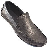 Мужские мокасины кожаные черные натуральные стильные обувь Rosso Avangard Guerin M4 Pelle liscia nera