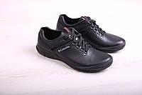 Мужские туфли из кожи на шнурке