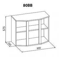 Алина 80 верх витрина мебель-сервис