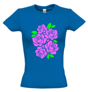 Женская футболка с РОЗАМИ