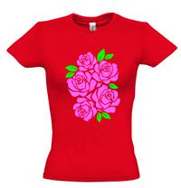 Женская футболка с РОЗАМИ, фото 3